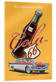 Acrylglasbild  Cola 66 Advertising - Georg Huber