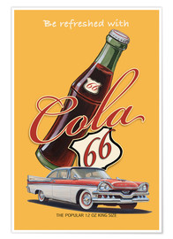Premium-Poster Cola 66 Advertising