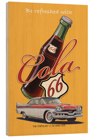 Holzbild  Cola 66 Advertising - Georg Huber