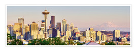 Premium-Poster Seattle Skyline II