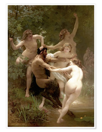 Poster  Nymphen und Satyr - William Adolphe Bouguereau