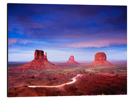 Alubild  Panorama des Monument Valley nach Sonnenuntergang, Utah, USA. - Peter Wey