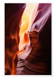 Premium-Poster  Leuchtene Wände im Lower Antelope Slot Canyon bei Page, Arizona, USA - Peter Wey
