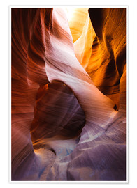 Premium-Poster Lower Antelope Slot Canyon, Page, Arizona, USA