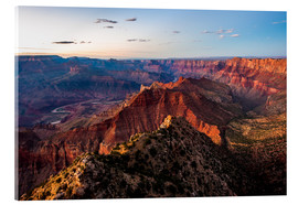 Acrylglasbild  Panorama vom South Rim über den Grand Canyon bei Sonnenuntergang, USA. - Peter Wey