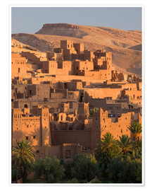 Premium-Poster  Kasbah Ait Benhaddou nahe Ouarza - Lee Frost