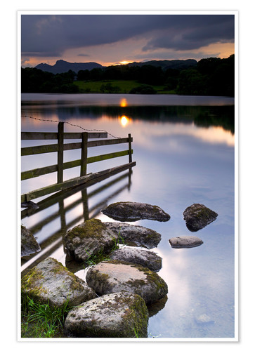 Premium-Poster Loughrigg Tarn in England