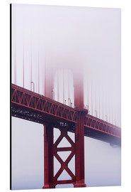 Alu-Dibond  Golden Gate Bridge im Nebel, San Francisco - Jean Brooks