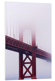 Hartschaumbild  Golden Gate Bridge im Nebel - Jean Brooks
