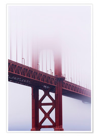 Premium-Poster  Golden Gate Bridge im Nebel - Jean Brooks