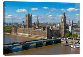 Leinwandbild  Westminster Bridge mit Houses of Parliament - Walter Rawlings