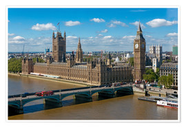Premium-Poster Westminster Bridge mit Houses of Parliament