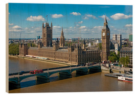 Holzbild  Westminster Bridge mit Houses of Parliament - Walter Rawlings
