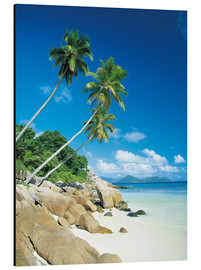 Alubild  Anse Severe With Praslin Island in Background, La Digue, Seychelles - Lee Frost