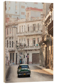 Holzbild  Taxi in Havanna - Lee Frost