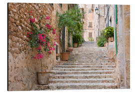 Alubild  Gasse in Fornalutx, Mallorca - Ruth Tomlinson