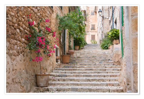 Premium-Poster Gasse in Fornalutx, Mallorca
