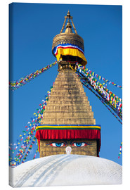 Leinwandbild  Bodhnath Stupa (Boudhanth) (Boudha), one of the holiest Buddhist sites in Kathmandu, UNESCO World He - Lee Frost