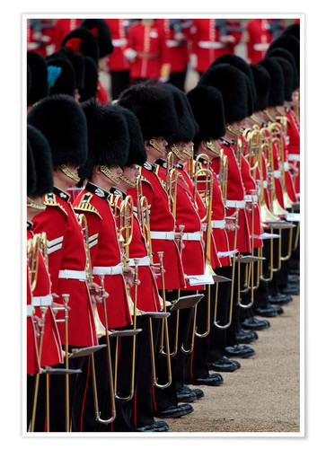Premium-Poster Soldiers at Trooping the Colour 2012, The Queen's Birthday Parade, Horse Guards, Whitehall, London,