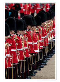 Premium-Poster  Soldiers at Trooping the Colour 2012, The Queen's Birthday Parade, Horse Guards, Whitehall, London,  - Hans-Peter Merten