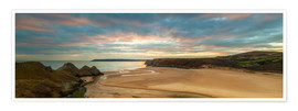 Premium-Poster  Three Cliffs Bay, Gower - Billy Stock