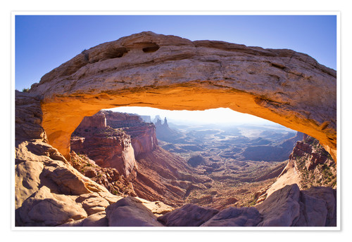 Premium-Poster Mesa Arch sunrise, Island in the Sky, Canyonlands National Park, Utah, United States of America, Nor