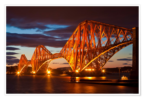 Premium-Poster Forth Rail Bridge, South Queensferry