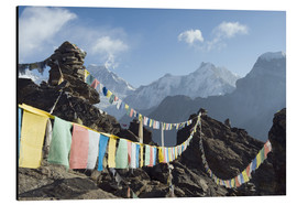 Alubild  Prayer flags, view from Gokyo Ri - Christian Kober