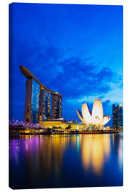 Leinwandbild  Marina Bay Sands Hotel and Arts Science Museum, Singapore, Southeast Asia, Asia - Christian Kober