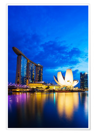 Premium-Poster Marina Bay Sands Hotel and Arts Science Museum, Singapore, Southeast Asia, Asia