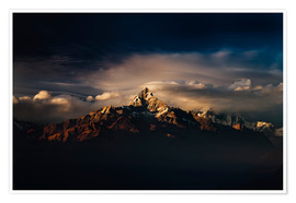 Premium-Poster  Machapuchare (Machhapuchhre) (Fish Tail) mountain, in the Annapurna Himal of north central Nepal, Ne - Mark Chivers
