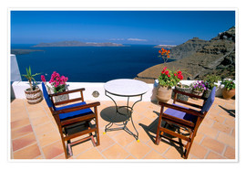 Premium-Poster Fira, island of Santorini (Thira), Cyclades Islands, Aegean, Greek Islands, Greece, Europe