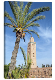Leinwandbild  Minaret of the Koutoubia Mosque, UNESCO World Heritage Site, Marrakech, Morocco, North Africa, Afric - Nico Tondini
