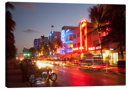 Leinwandbild  Ocean Drive, South Beach, Art Deco district, Miami Beach, Miami, Florida, United States of America, - Angelo Cavalli