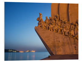 Hartschaumbild  Monument to Discoveries, Belem, Lisbon, Portugal, Europe - Angelo Cavalli