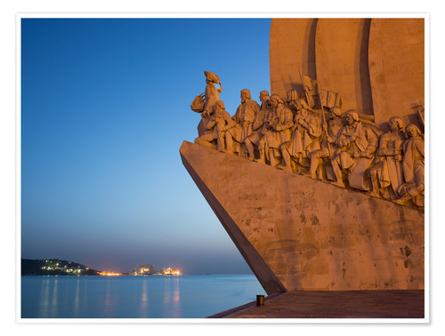 Premium-Poster Monument to Discoveries, Belem, Lisbon, Portugal, Europe