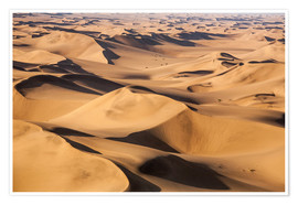 Premium-Poster Aerial view of the dunes of the Namib Desert, Namibia, Africa