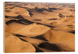 Holzbild  Aerial view of the dunes of the Namib Desert, Namibia, Africa - Roberto Moiola