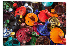 Leinwandbild  Colourful tajines, Essaouira, Atlantic coast, Morocco, North Africa, Africa - Stuart Black
