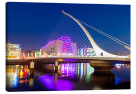 Leinwandbild  Samuel Beckett Bridge and the Convention Centre Dublin, River Liffey, Dublin, County Dublin, Republi - Chris Hepburn
