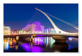 Premium-Poster Samuel Beckett Bridge and the Convention Centre Dublin, River Liffey, Dublin, County Dublin, Republi