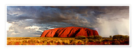 Premium-Poster  Uluru (Ayers Rock), Uluru-Kata Tjuta National Park, UNESCO World Heritage Site, Northern Territory, - Giles Bracher