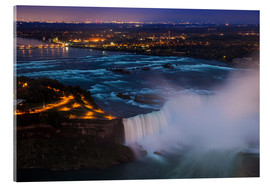 Acrylglasbild  View of Horseshoe Falls, Niagara Falls, Niagara, border of New York State, and Ontario, Canada, Nort - Jane Sweeney