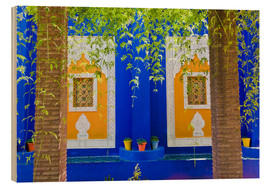 Holzbild  Fenster in den Majorelle Gardens - Matthew Williams-Ellis