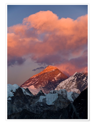 Premium-Poster Mount Everest & Mount Lhotse