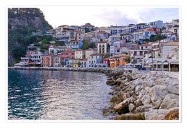 Premium-Poster Harbor of Parga, mainland Greece, Greece, Europe