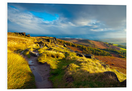 Hartschaumbild  Stanage Edge, Derbyshire - Alan Copson