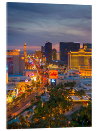 Acrylglasbild  The Strip, Las Vegas, Nevada, USA - Alan Copson