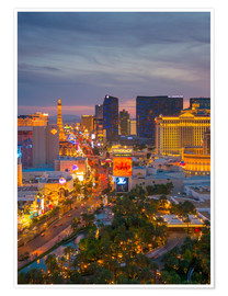 Premium-Poster  The Strip, Las Vegas, Nevada, USA - Alan Copson