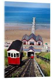 Acrylglasbild  Cliff Tramway and the Pier at Saltburn by the Sea, Redcar and Cleveland, North Yorkshire, Yorkshire, - Mark Sunderland